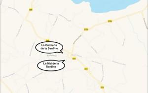 Localisation gîtes